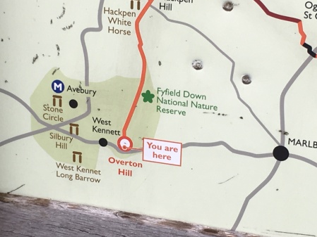 You are here. Overton Hill