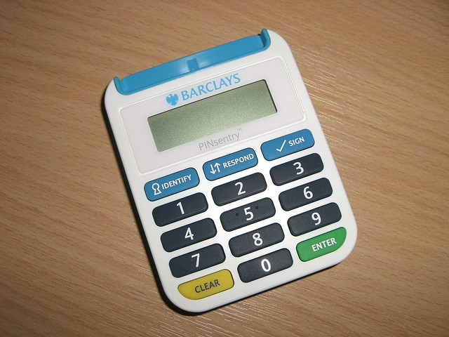 Barclays PINsentry security device